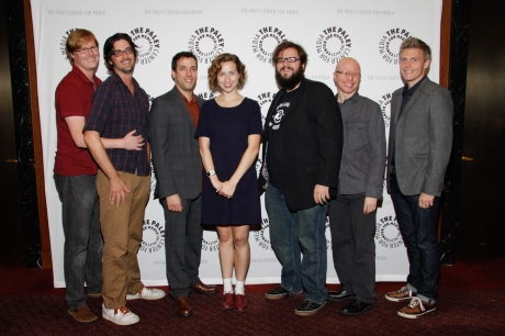 "The cast and director of ""Tell Your Friends! The Concert Film!"" at the Paley Center in NYC."