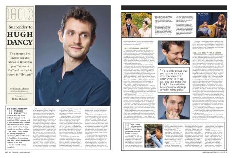 Back Stage 051712 cover story pg 10-11 Hugh Dancy